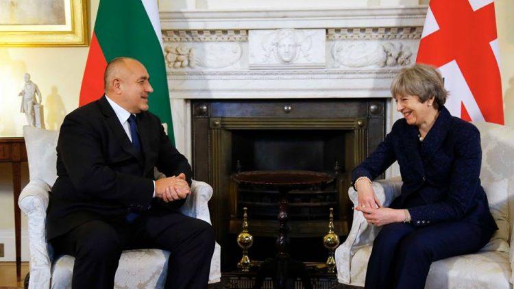Среща на министър-председателя Бойко Борисов с министър-председателя на Обединеното кралство Тереза Мей