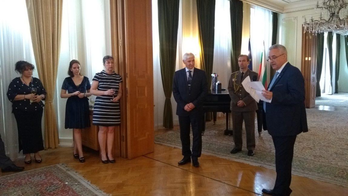 Прием по повод окончателното отпътуване на флотилен адмирал Коста Андреев