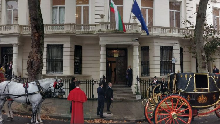 The Ambassador of Bulgaria presents his credentials to H.M. The Queen