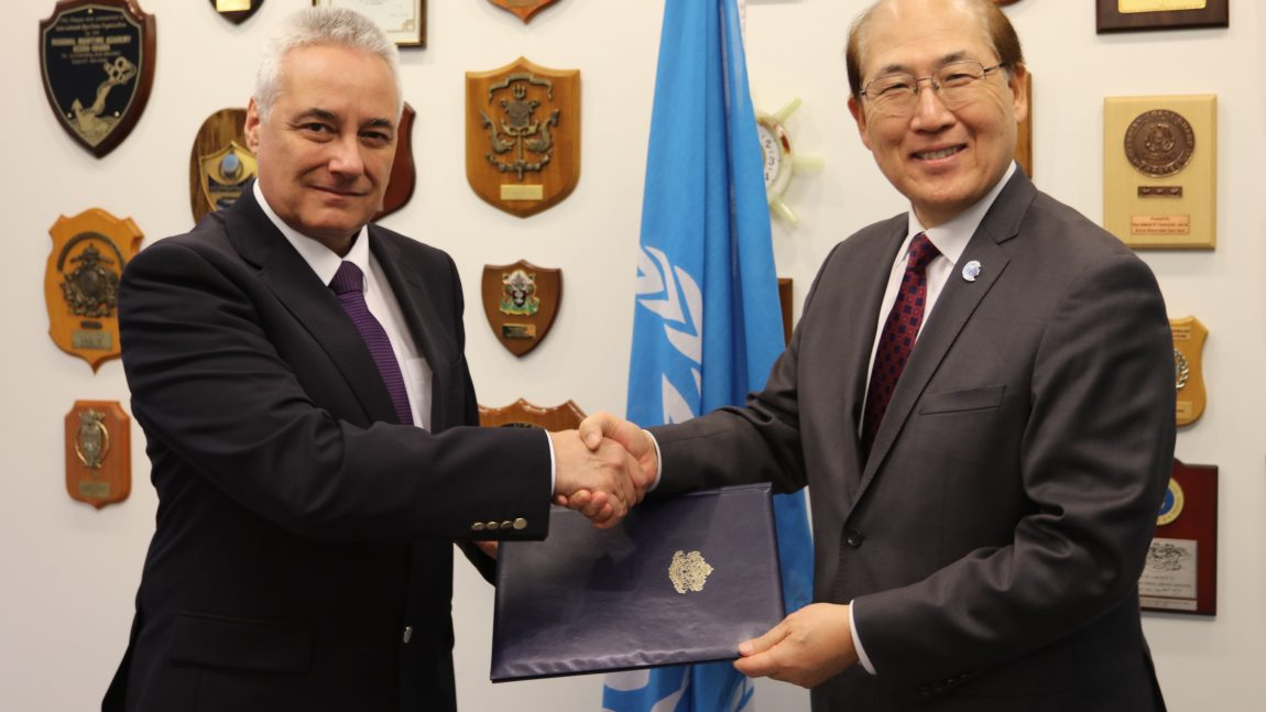 Handing in of credentials by Ambassador Marin Raykov as Permanent Representative of the Republic of Bulgaria to the International Maritime Organization